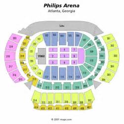 philips arena floor plan philips arena concert seating chart with seat numbers