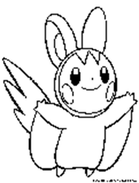 pokemon coloring pages emolga electric pokemon coloring pages free printable colouring