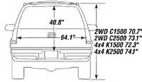Chevrolet Suburban Interior Dimensions Chevy Suburban Cargo Dimensions Autos Post
