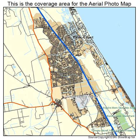 map palm florida aerial photography map of palm coast fl florida