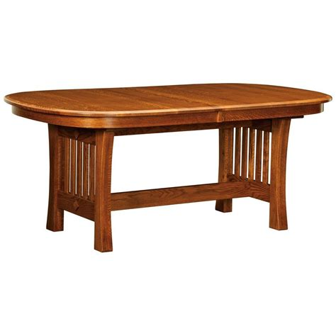 amish tables arts and crafts trestle extension table amish tables