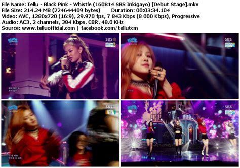 blackpink k2nblog download perf black pink whistle boombayah sbs