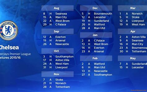 epl chelsea fixtures chelsea fc news fixtures results premier league autos post