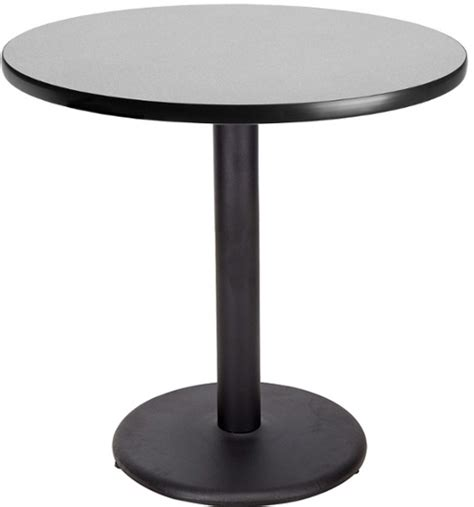 Patio Bar Height Table Round Restaurant Table W Round Black Base