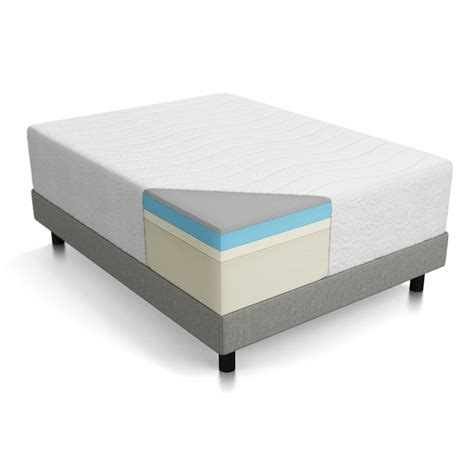 lucid bed lucid 16 quot gel memory foam mattress reviews wayfair