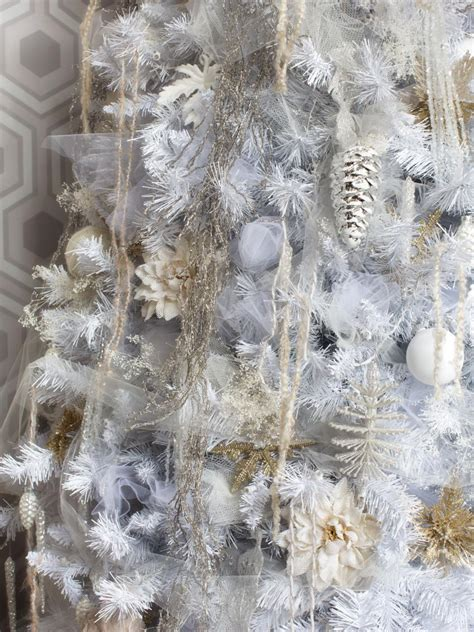 white decorations for a tree white tree decorating ideas hgtv