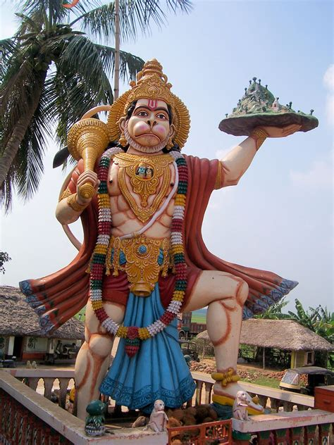 file hanuman statue in haladiagada kendrapada jpg