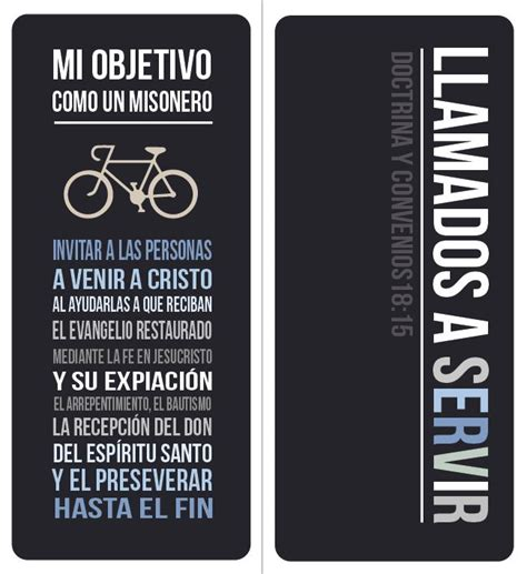printable bookmarks in spanish missionary spanish speaking missionary purpose bookmark