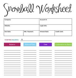 Debt Spreadsheet Template by 5 Debt Snowball Excel Templates Excel Xlts