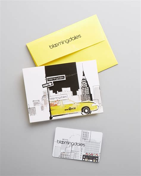 Bloomingdale Gift Card - bloomingdale s cityscape gift card with envelope