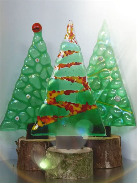 fused glass christmas trees dotty gallery