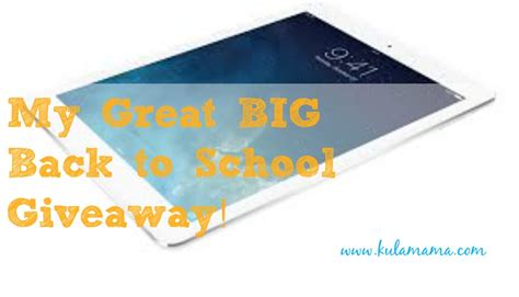My Great Giveaway - great big back to school giveaway