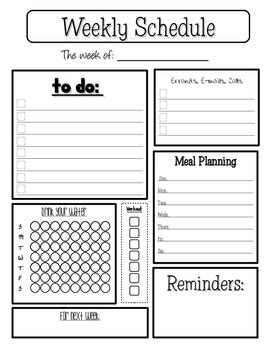 personal weekly planner by colleen zehr | teachers pay