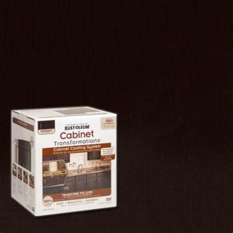 home depot cabinet paint rust oleum transformations 1 qt espresso small cabinet
