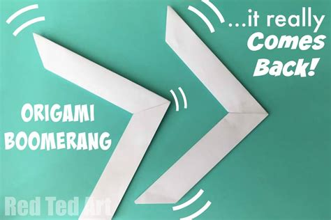 How To Make A Boomerang Out Of Paper - origami boomerang that comes back origami simple