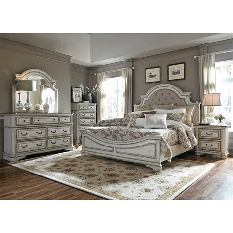 liberty furniture magnolia manor king upholstered bed