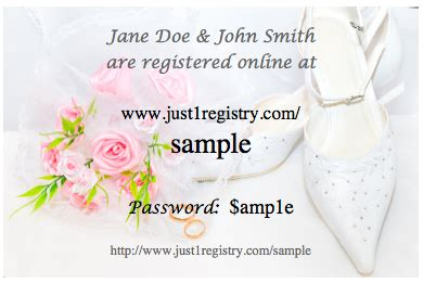Target Gift Registry Card Inserts - 8 best images of free printable wedding registry inserts target wedding registry