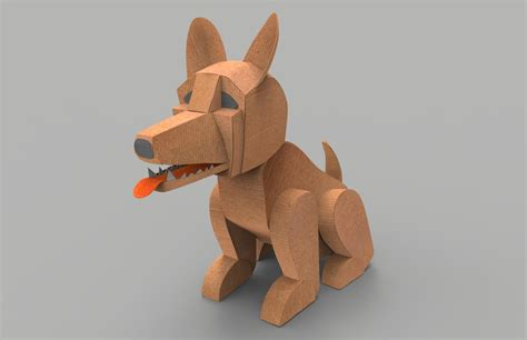 How To Make A 3d Model Out Of Paper - 3d cardboard model