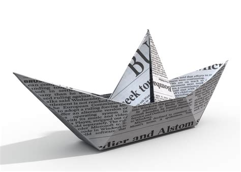 How To Make A Boat Out Of Paper - how to make a paper boat origami ship