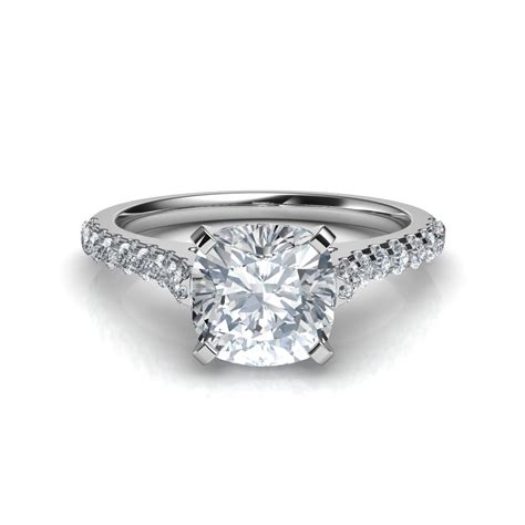 cusion cut cathedral cushion cut diamond engagement ring