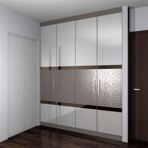 Brown Wardrobe With Mirror Modern Wardrobes Designs With Mirror For Trends Amazing
