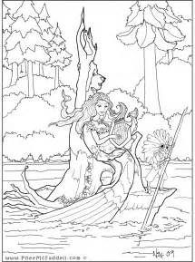 mermaid coloring pages for adults coloring pages mermaids tribal cooloring