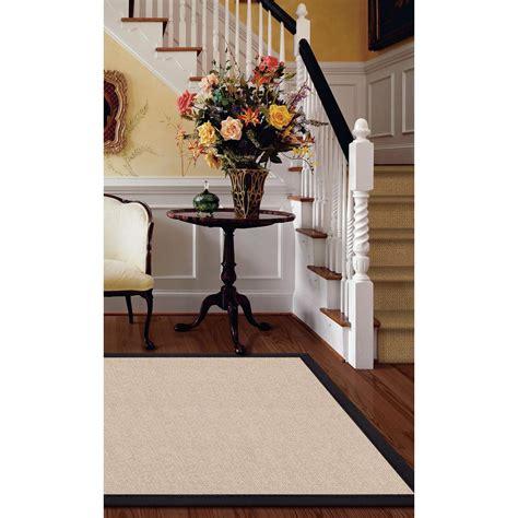 linon home decor linon home decor athena natural and black 5 ft x 8 ft area rug rug at012158 the home depot