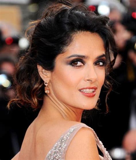 salma hayek hairstyles gorgeous bobby pinned updo