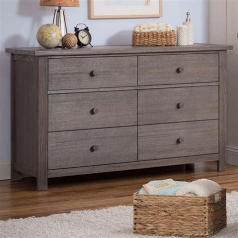 rustic grey changing table serta northbrook drawer dresser in rustic grey on