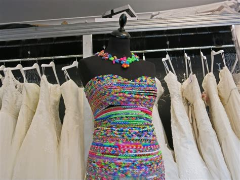 loom band dress video 16 first child to make a adult bridal shop creates world s first loom band wedding dress