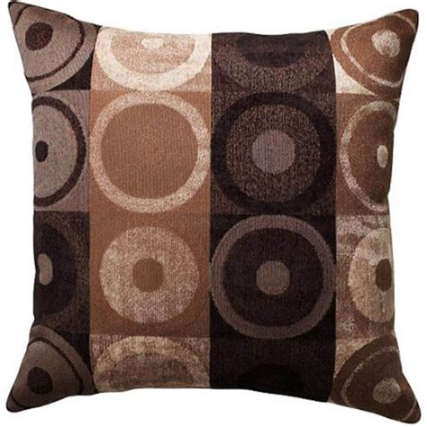 Circles And Squares Decorative Pillow Brown From Better Where To Buy Sofa Pillows