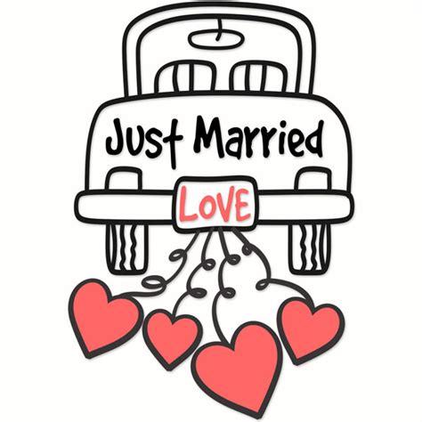 Wedding Just Married by Wedding Just Married Svg Cuttable Designs
