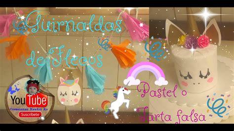 ideas para decorar tu cuarto de unicornio torta o pastel unicornio falsa y guirnaldas ideas fiesta