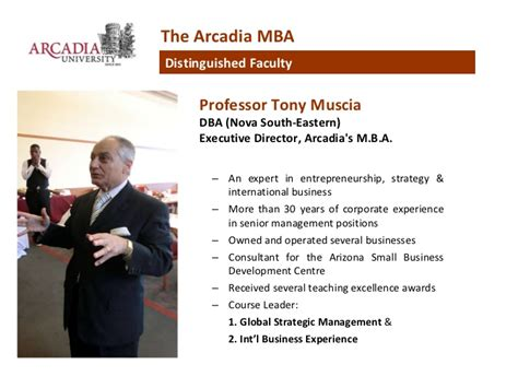 Arcadia Mba Ranking by Arcadia Unveristy Top Ranked Us Part Time Mba In Singapore