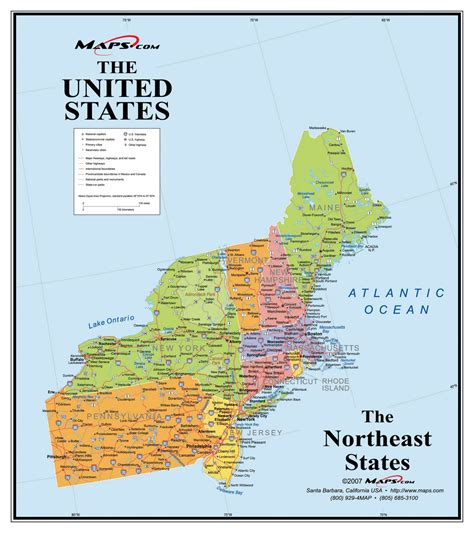 map of the northeast usa northeast usa wall map maps