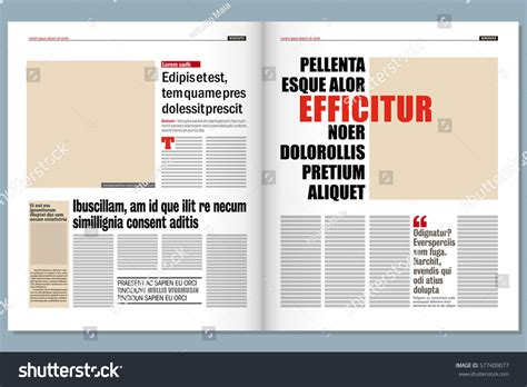 modern newspaper template stock vector 577409077