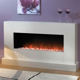 Fireplace Plinth by Flamerite Fires Sento Electric Fireplace Suite With