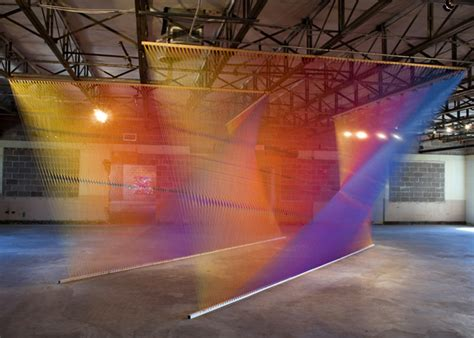 String Installation - gabriel dawe mixed media and installation artist