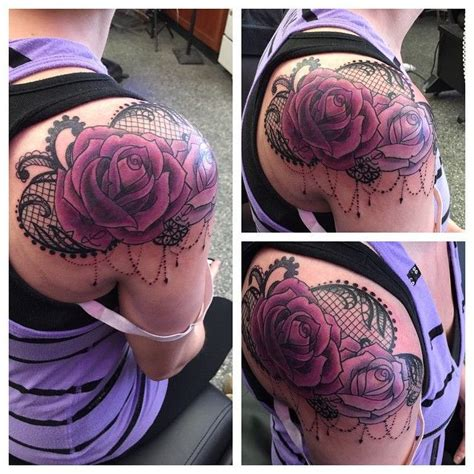 25 trending lace rose tattoos ideas on pinterest black
