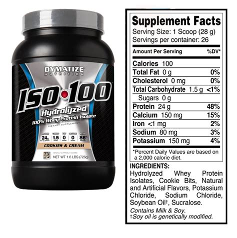 New Iso 100 Iso100 Dymatize Nutrition Ecer 1 Lbs healthspot iso 100 1 6lbs cookies