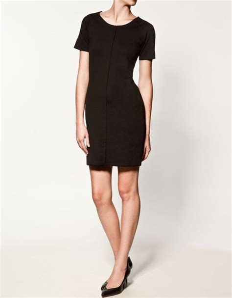 ponte di roma knit zara ponte di roma knit dress in black lyst