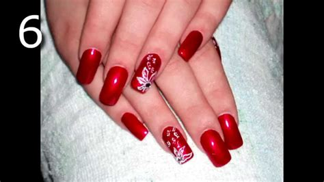 imagenes uñas decoradas rojas las 20 mejores u 209 as acrilicas rojas decoradas youtube