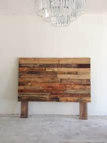 reclaimed recycled pallet wood headboard board by