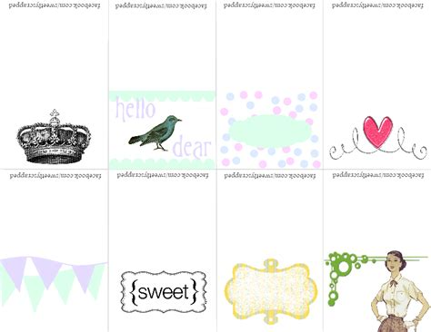 printable small note cards sweetly scrapped mini printable notecards