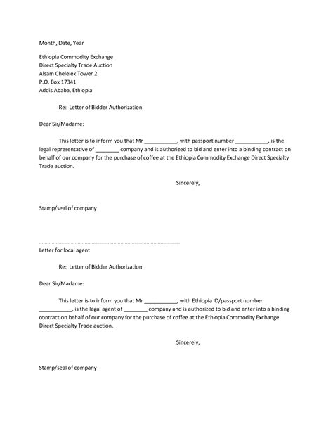 Letter Of Authorization Template For Business best photos of company letter of authorization business