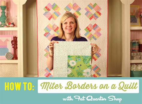 Mitred Corners On Quilt Borders by Quarter Shop S Jolly Jabber How To Miter Borders On A