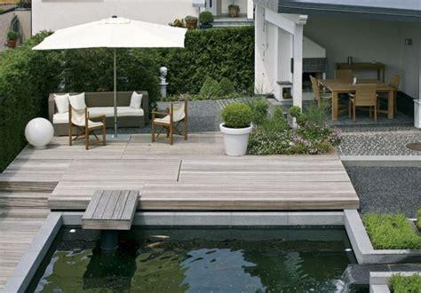 bestes holz für draussen terrasse naturstein idee
