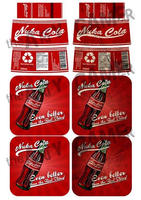 nuka cola bottle cap template fallout 3 new vegas quot nuka cola quot bottle label