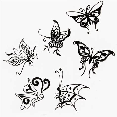 butterfly design insect waterproof temporary tattoo