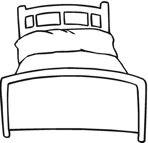 Drawing Of A Bed by Draw A Bed Colouring Pages Children S Inspirational